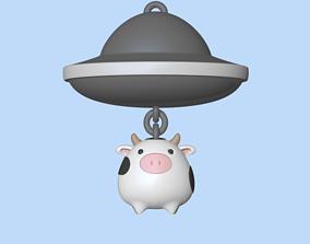 3D print model UFO keychain