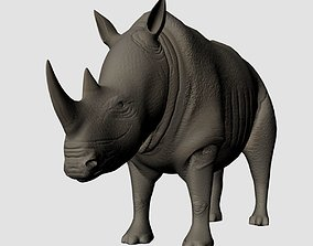 Rigged-Animated Rhino 3D model
