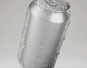 3D model Wet Beverage Can With Ice