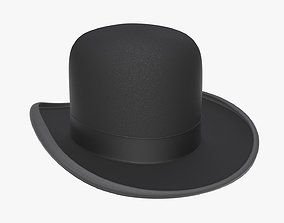 Bowler hat black 3D