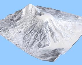 3D model Volcano Mountains 6