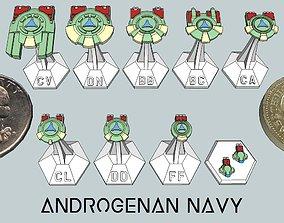 MicroFleet Androgenan Navy Starship 3D printable model
