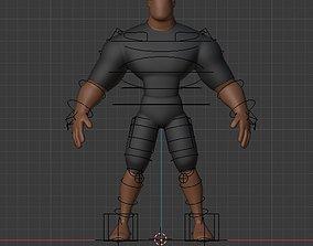 bone rigged Rigs Character 3d base mesh