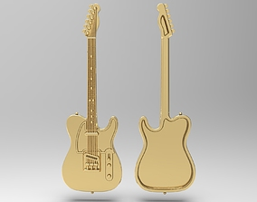 3D printable model Fender Telecaster badge pendant pin
