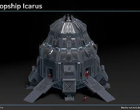 Scifi Dropship Icarus 3D asset