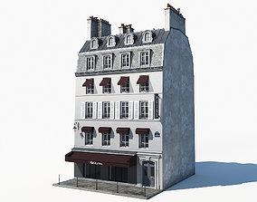3D asset Parisian building 2