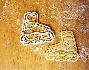 Inline roller skate cookie cutter 3D print model