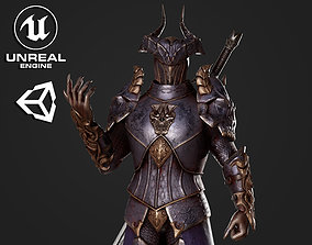 Horned Knight - Game Ready 3D asset