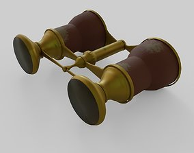 Binoculars vintage 3D model
