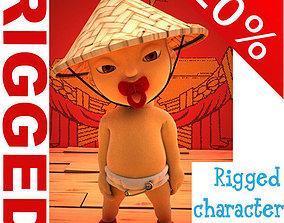 China baby Cartoon Rigged 3D