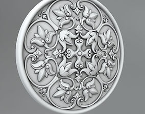 cornce decorate 3D model Carved Rosettes Medallions