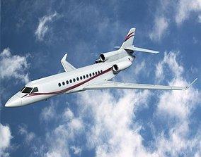 Dassault Falcon 7x business jet 3D model