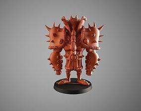 Santa warrior 4 3D print model