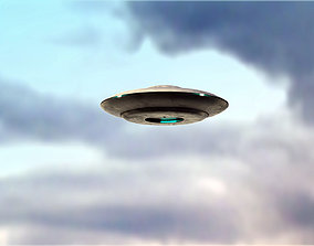 UFO rigged and animated 3D asset