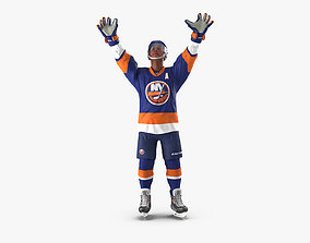 3D model Hockey Player Islanders Rigged