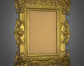 Fancy Picture Frame Antiques - ATQ - PBR Game 3D model