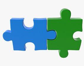 3D model Puzzle 2 Piece