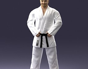 Karate man 1105 3D print ready