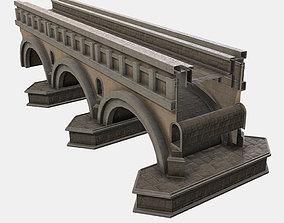 Low Poly PBR Modular Bridge 3D model