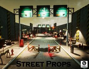 Street Props for Unreal 3D model