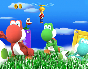 rigged game-ready Yoshi Character 3D print