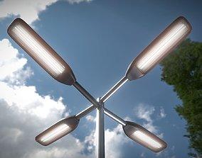 3D asset Street-Light 11 Pole-2 Version-6