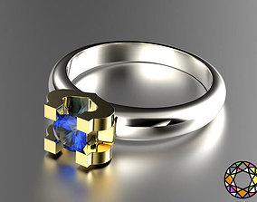 Engagement Ring 3D printable model armani
