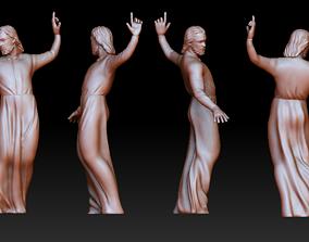 figure Statue 6 of saint Notre Dame 3D print model