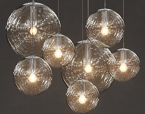 3D model Raak - Clear bubble glass globes