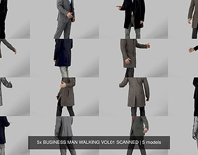 5x BUSINESS MAN WALKING VOL01 SCANNED 3D