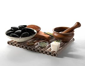 Spa Accessories on Tray 3D