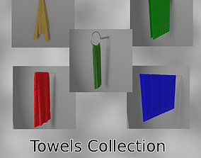 Hung Towels Collection 3D