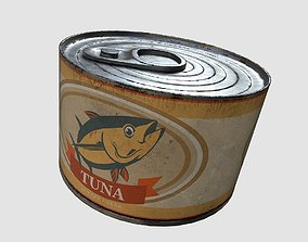 Can of tuna 3D asset