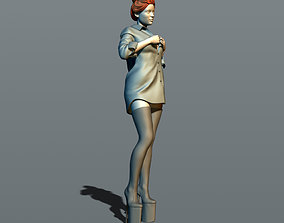 3D printable model Pretty woman in shirt