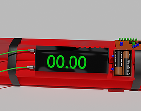 Dynamite 3D asset animated