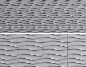 game-ready 3d wall panel decoration low poly 3d model