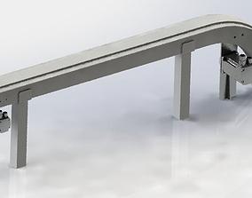 3D model Vibrating conveyor
