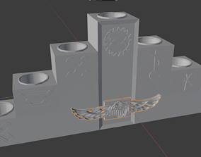 holder 3D print model Kwanza Candle Holder