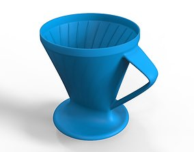 3D printable model Cone Coffee Filter Strainer Maker