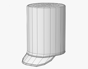 3D asset Pillbox Marching Hat Lowpoly