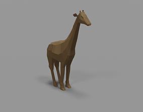 Low Poly Giraffe 3D Model african