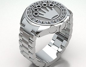 3D printable model MEN WATCH RING REF-165