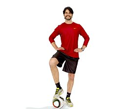 Football Player with Red T-Shirt SMan0312-HD2-O04P01-S 3D