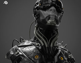 3D Sci Fi - Character - Head technology