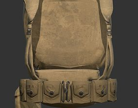 World War 2 American Soldier Backpack 3D model