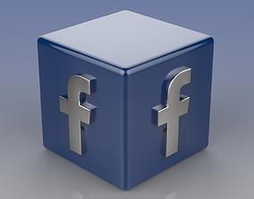 Facebook Logo 3D asset realtime