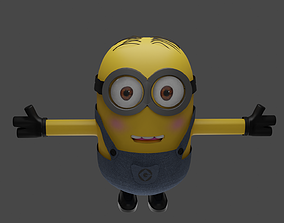 rigged 3D model of minion and rigged