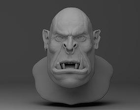 warrior Orc head 3D model