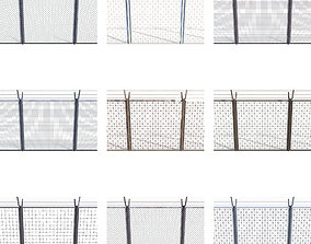 10 Piece Low Poly Fence Pack 1 3D asset