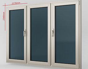 3D Plastic casement window 05